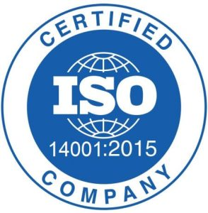 ISO14001:2015 accredited