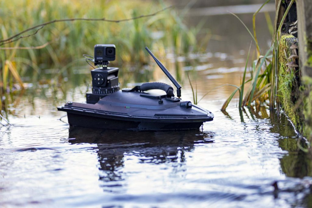 RMC inspection boat on water